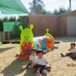 cluny villaamil niños patio jugando